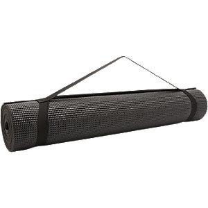 Zwarte yogamat