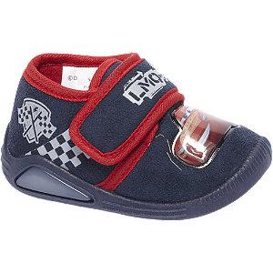 Blauwe pantoffel klittenband