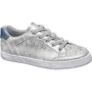 Zilveren metallic sneaker