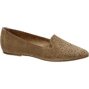 Bruine sude loafer perforatie 5th Avenue maat 39