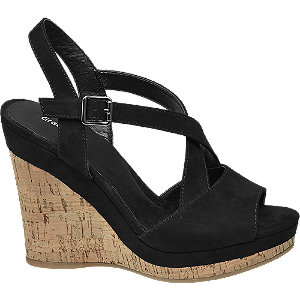 Zwarte sandalette sleehak Graceland maat 40