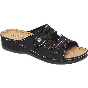 Zwarte sandaal leren voetbed Bjrndal maat 36