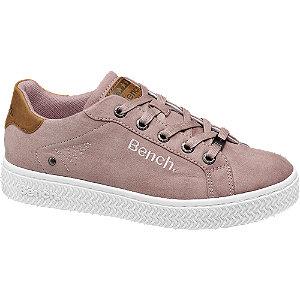 Roze sneaker plateauzool