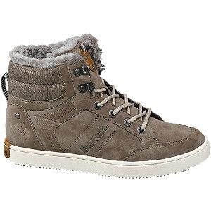 Bruine halfhoge sneaker bont