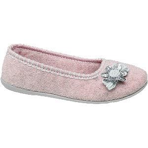 Roze fleece pantoffel Casa mia maat 40