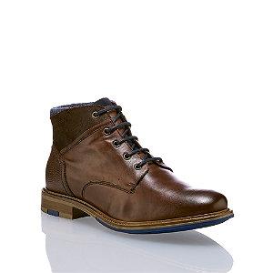 Image of AM Shoe Patton Herren Schnürschuh Braun