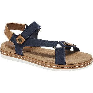 Donkerblauwe sandaal klittenband  maat 41