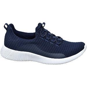 Donkerblauwe light weight knitted sneaker Memory Foam Venice maat 37