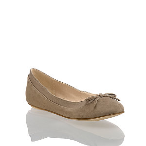 Image of Buffalo Annelie Damen Ballerina Taupe