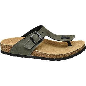 Khaki sandaal leren voetbed Venice maat 40