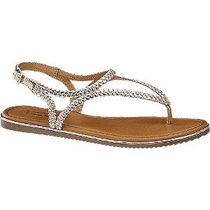 Gouden sandaal leer 5th Avenue maat 40