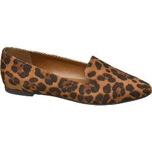 Donkerbeige loafer leopard Graceland maat 42