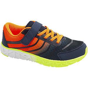 Blauwe sneaker elastische vetersluiting Victory