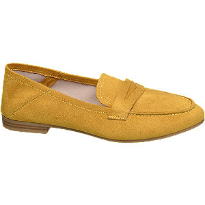 Oker gele loafer