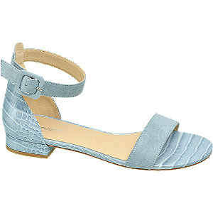 Blauwe sandaal
