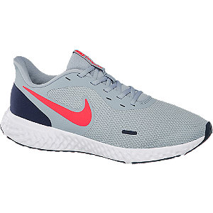 Mens Nike Revolution 5 Grey Lace-up Trainers
