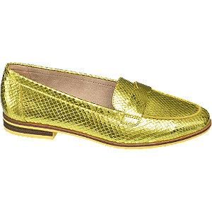 Gele loafer metallic