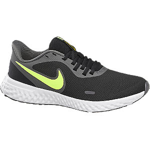 Mens Nike Revolution 5 Black Lace-up Trainers
