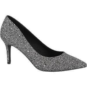 Zwarte glitter pump Graceland maat 36