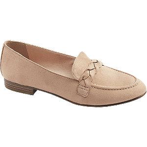 Bruine loafer gevlochten Graceland