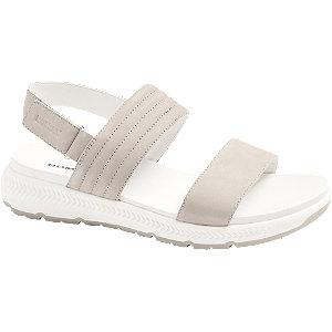 Levně Šedé kožené komfortní sandály Romika