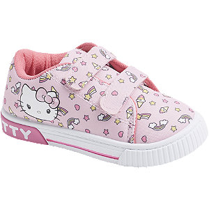 Roze Hello Kitty canvas sneaker klittenband Hello Kitty maat 29