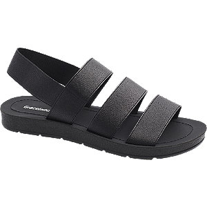 Zwarte sandaal elastisch Graceland