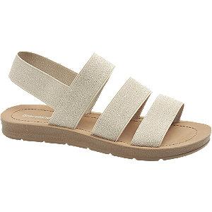 Beige sandaal elastisch Graceland