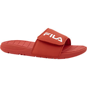 Rode badslipper klittenband FILA
