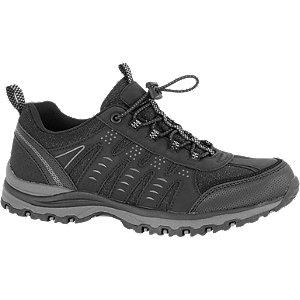Zwarte wandelschoen elastiek Landrover