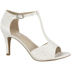 Graceland sandalettes met strass steentjes wit online kopen