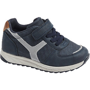 Blauwe sneaker klittenband Bobbi-Shoes