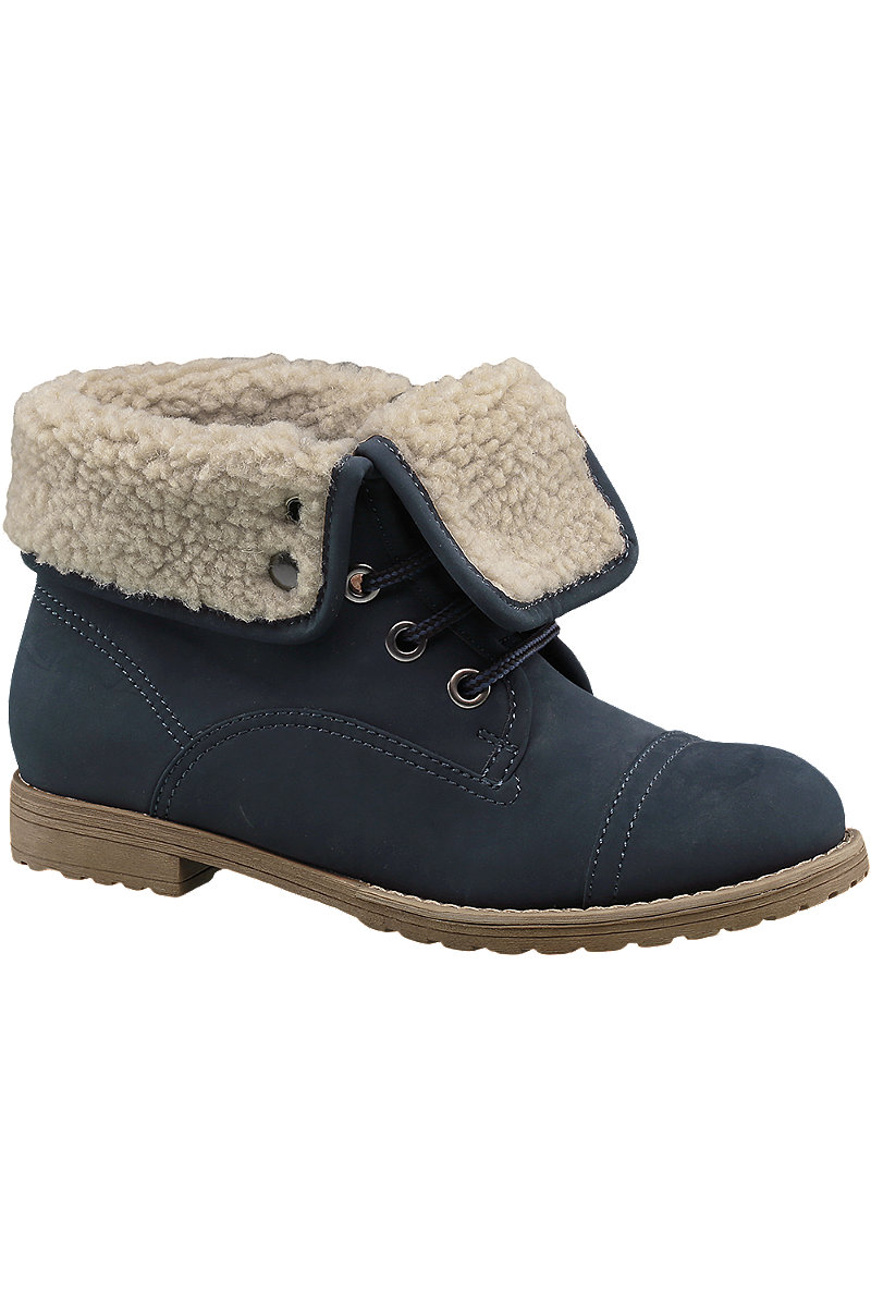 variety design sale retailer bottom price Navy Fleece Lined Ankle Boots