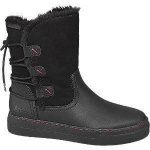 Modalite Deichmann Black Warm Lined Ankle Boots