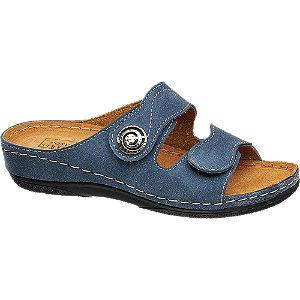 Deichmann Navy Blue Footbed Sandals