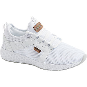 White Bench Lace Up Trainers Ladies