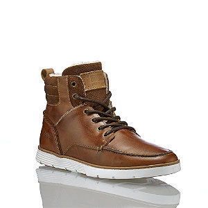 Image of AM Shoe Herren Schnürboot Cognac