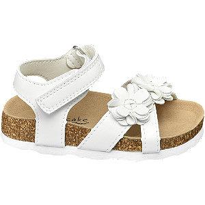 Levně Bílé dětské sandály na suchý zip Cupcake Couture