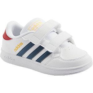 Levně Bílé dětské tenisky Adidas Breaknet I