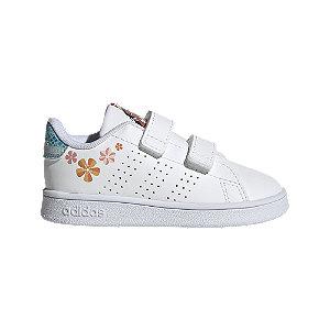 Levně Bílé dětské tenisky adidas na suchý zip Advantage I