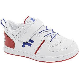 Levně Bílé dětské tenisky na suchý zip Fila