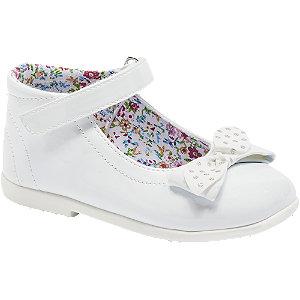 Levně Bílé dívčí střevíčky s řemínkem Cupcake Couture