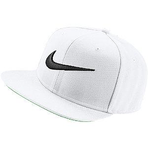 Levně Bílá kšiltovka Nike Swoosh Pro