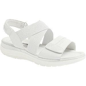 Levně Bílé kožené komfortní sandály Medicus