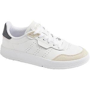 Levně Bílé kožené tenisky Adidas Courtrook