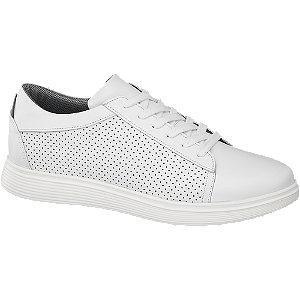 Levně Bílé kožené tenisky Am Shoe