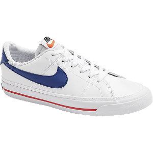Levně Bílé kožené tenisky Nike