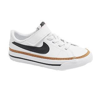 Levně Bílé kožené tenisky Nike Court Legacy