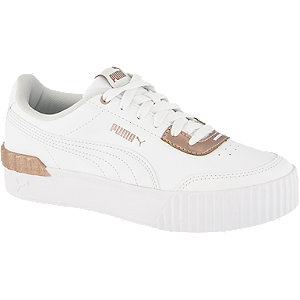 Levně Bílé kožené tenisky Puma Carina Lift Shine