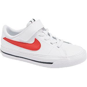 Levně Bílé kožené tenisky na suchý zip Nike Court Legacy
